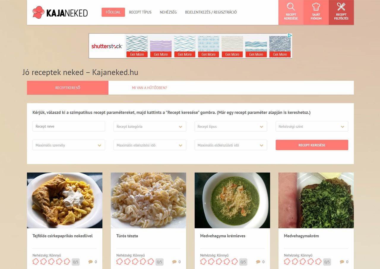 0dea3dc6b9 Jó receptek neked – Kajaneked.hu - Weboldal készítés és webáruház ...